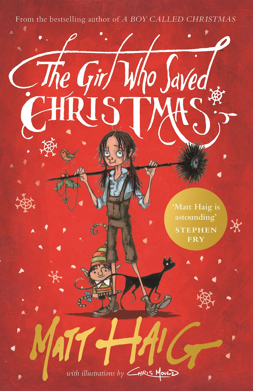 Cover image for the book The Girl Who Saved Christmas with illustrations by Chris Mould