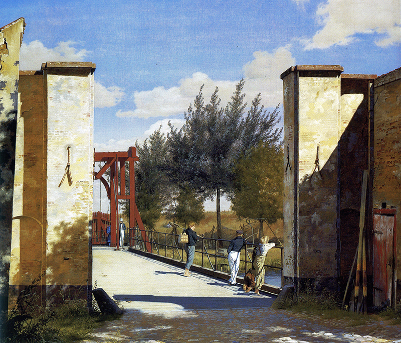 Christen Købke, View Outside the North Gate of the Citadel, 1834
