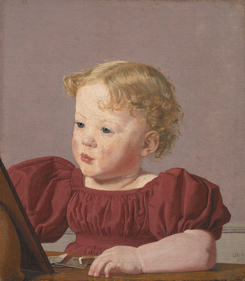 Christen Købke, Ida Thiele, the Future Mrs Wilde as a Child, 1832