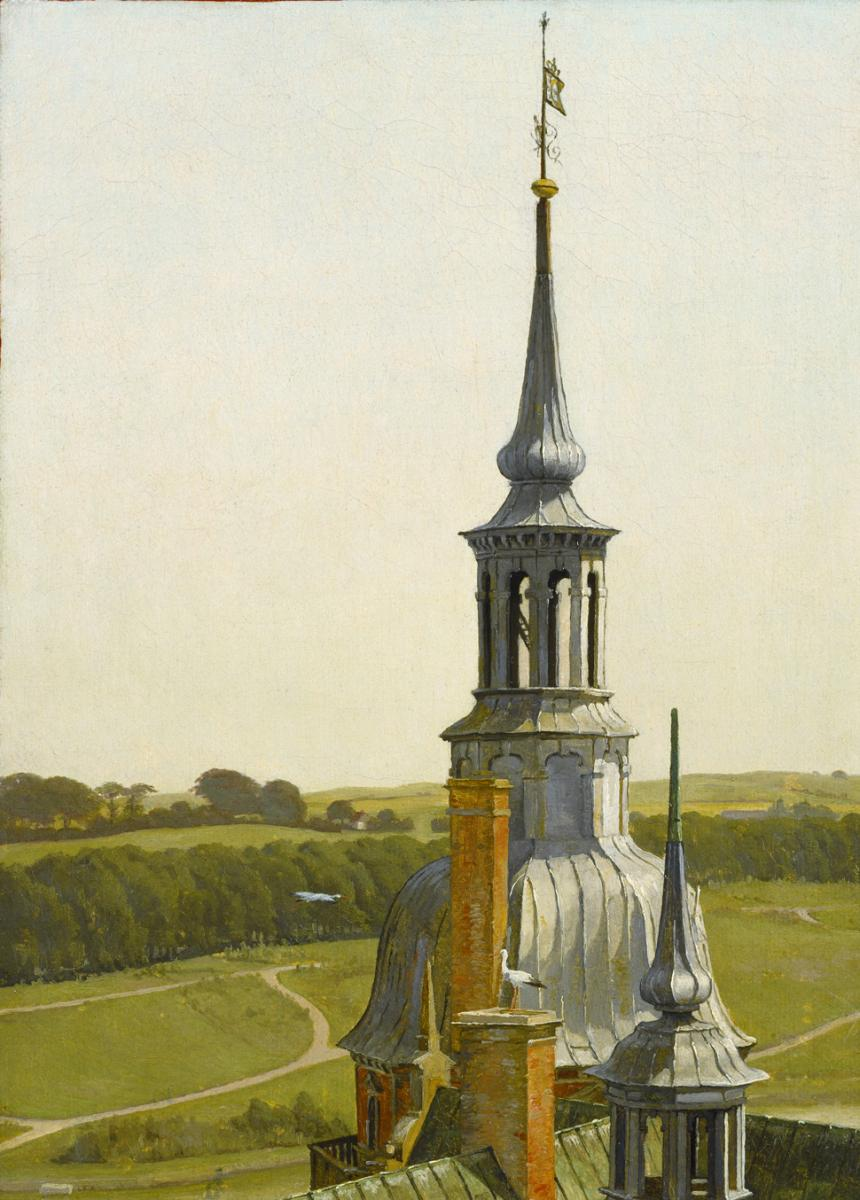 Christen Kobke, One of the Small Towers on Frederiksborg Castle, c.1834
