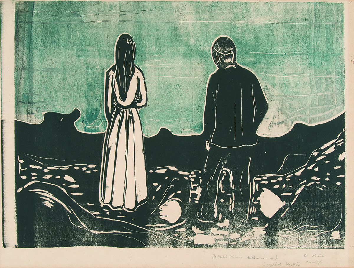 Edvard Munch, The Lonely Ones. Courtesy the Gundersun Collection