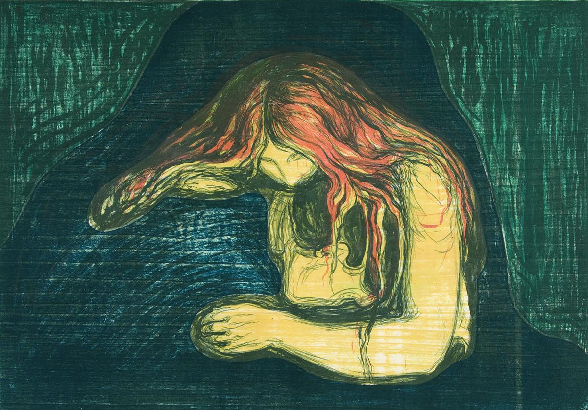 Edvard Munch, Vampire II. Courtesy the Gundersun Collection