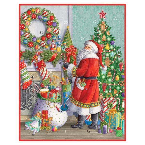 Santa at the mantelpiece advent calendar