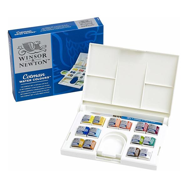 Cotman watercolours compact set (14 colours)