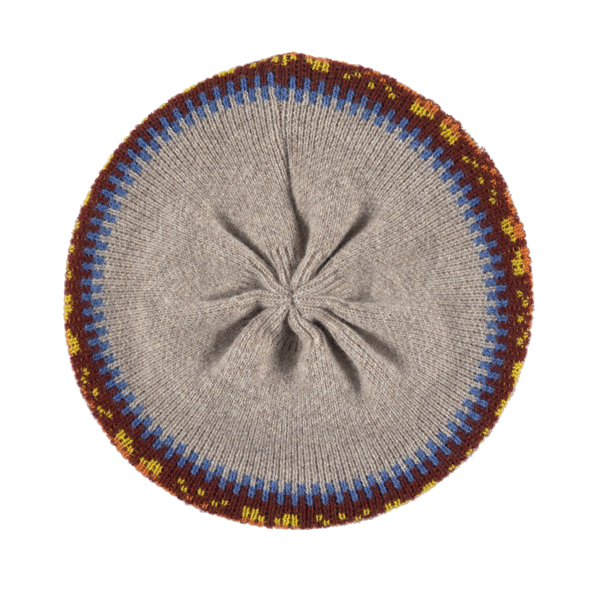 100% pure new wool Islay pattern amber beret