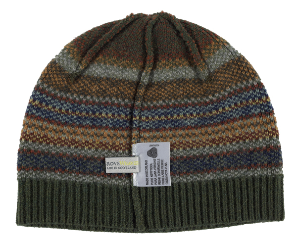 100% pure new wool Lorimer stripe pattern green Green Grove hat