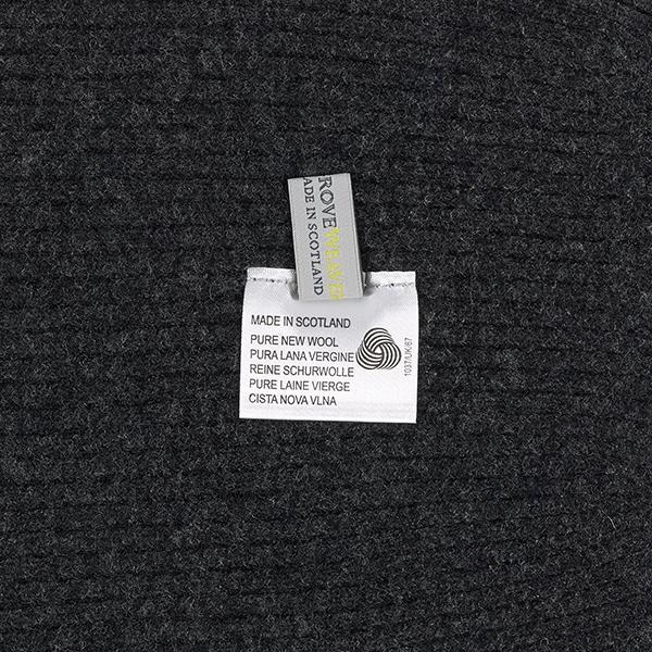 100% pure new wool dark grey knitted beanie hat