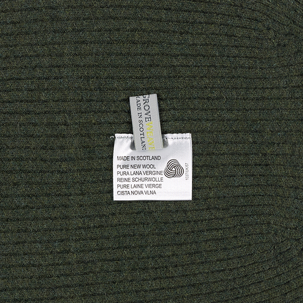 100% pure new wool olive knitted beanie hat