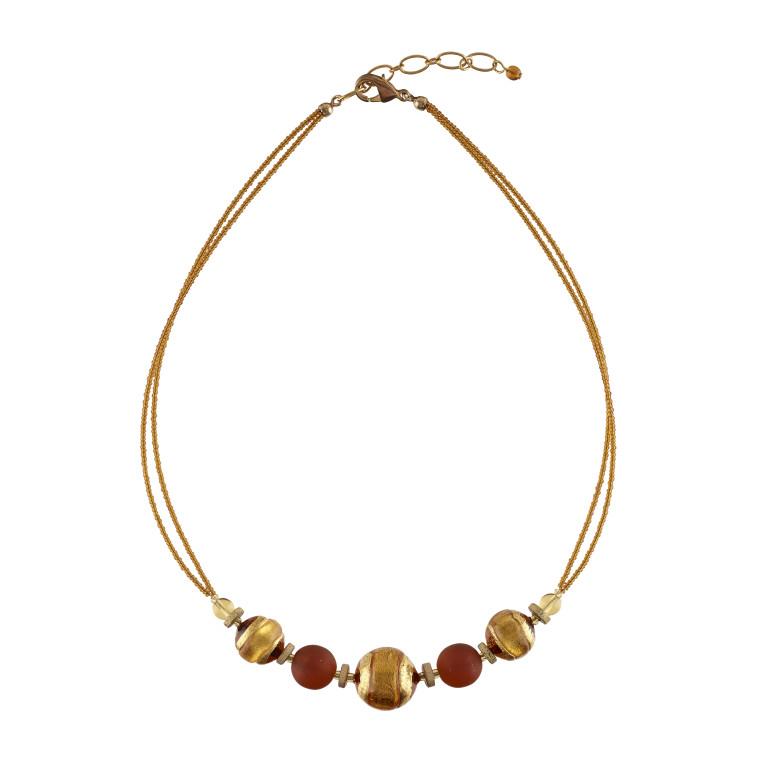 Murano orange glass Berenice necklace