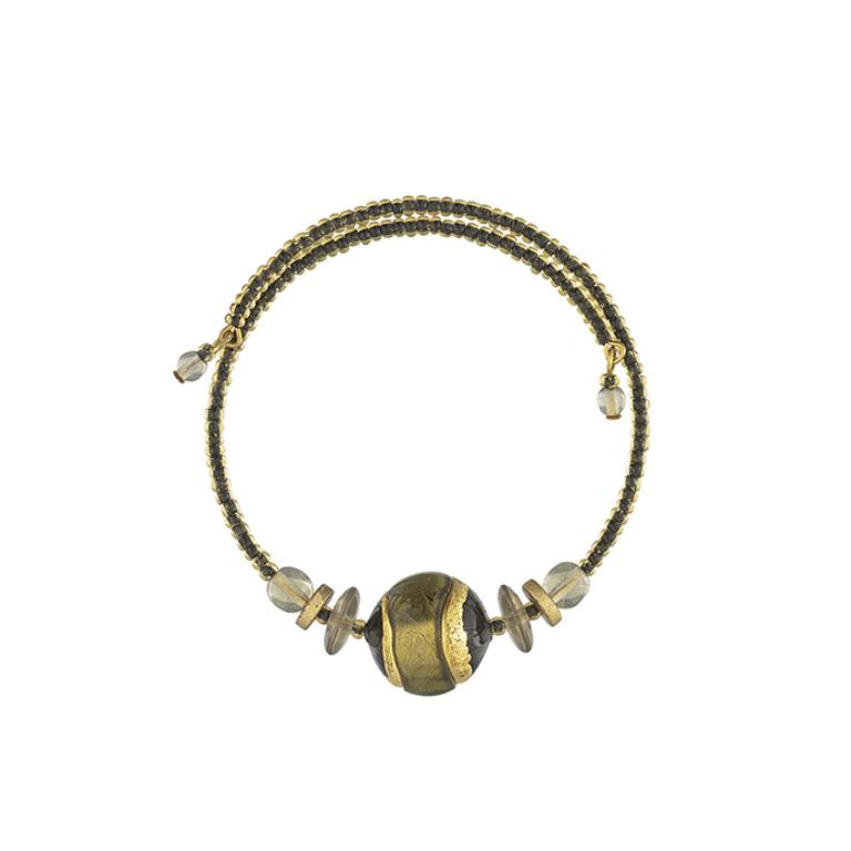 Murano glass green and gold Berenice bracelet