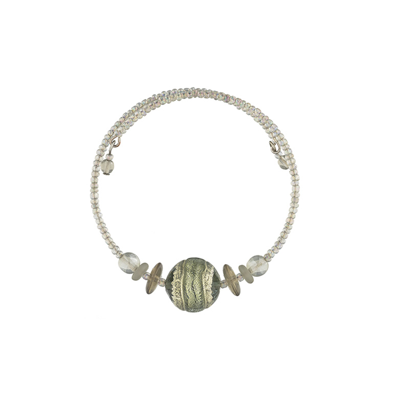 Murano glass green and silver Berenice bracelet