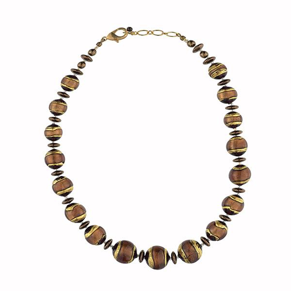 Murano glass brown full Berenice necklace