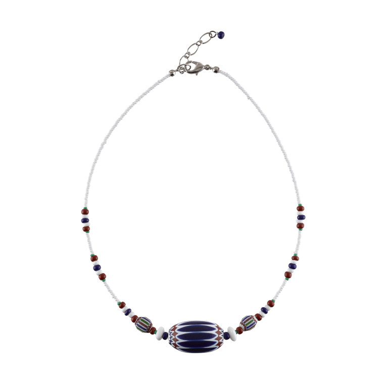 Murano glass large rosetta bead necklace