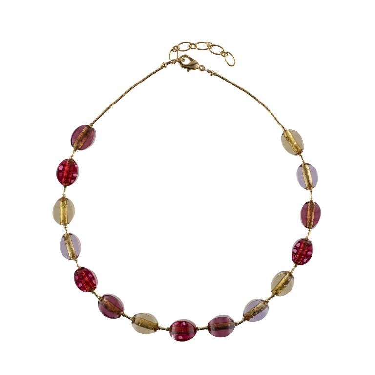 Murano glass pistachio beads necklace