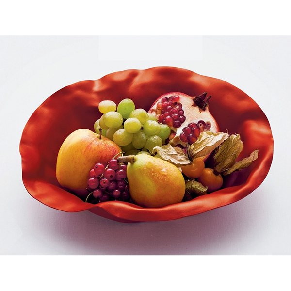 Sarria by Alessi red gloss fruit bowl