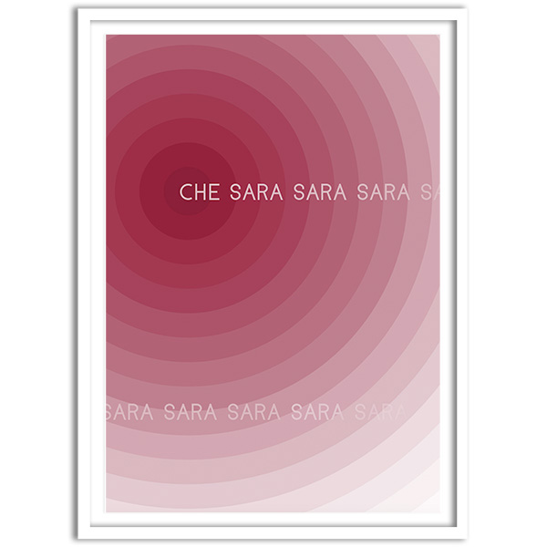 Untitled (Che Sara Sara Sara), 2019 by Charles Avery framed limited edition screen-print
