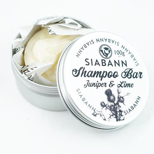Juniper and lime shampoo bar tin