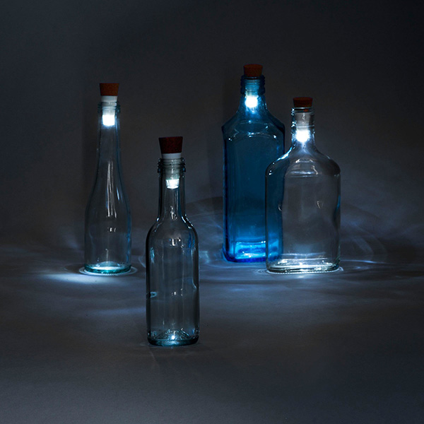 Cork-shaped white LED bottle light