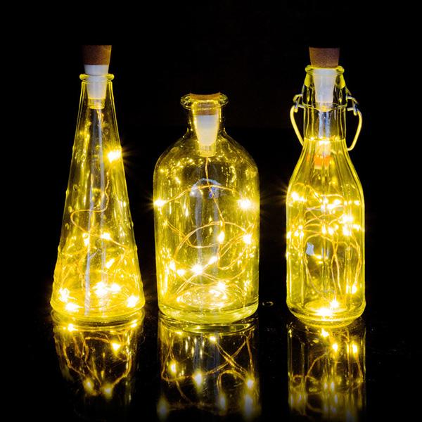 Cork-shaped white LED bottle string light