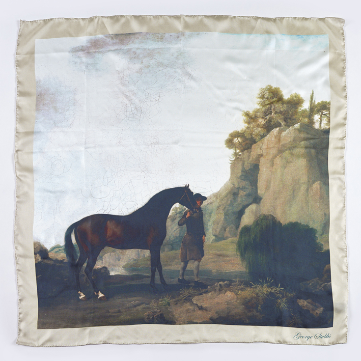 Marquess of Rockingham George Stubbs Silk Scarf