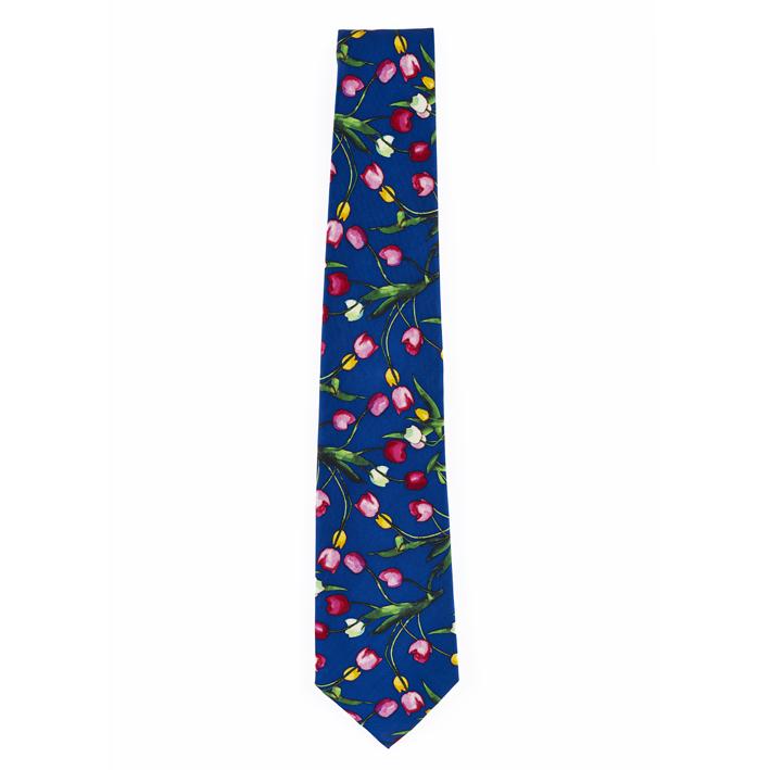 Tulips The Blue Jug Samuel John Peploe Blue Silk Tie