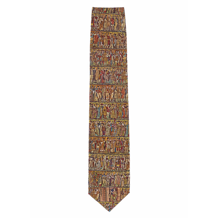 Processional Frieze by William Brassey Hole silk tie