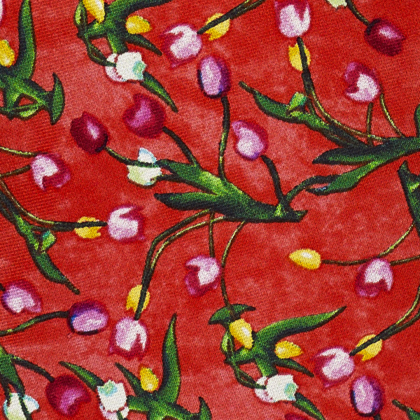 Tulips | The Blue Jug by Samuel John Peploe red silk tie