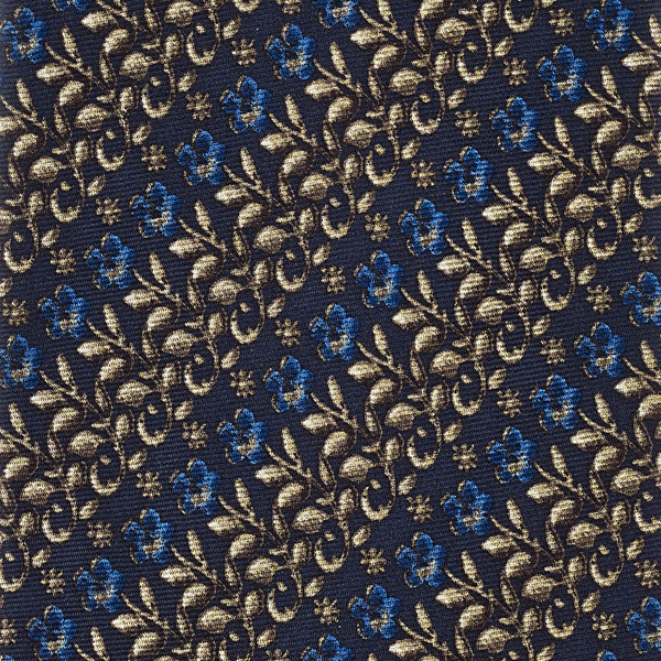 Erskine George Jamesone Dark Blue Silk Tie