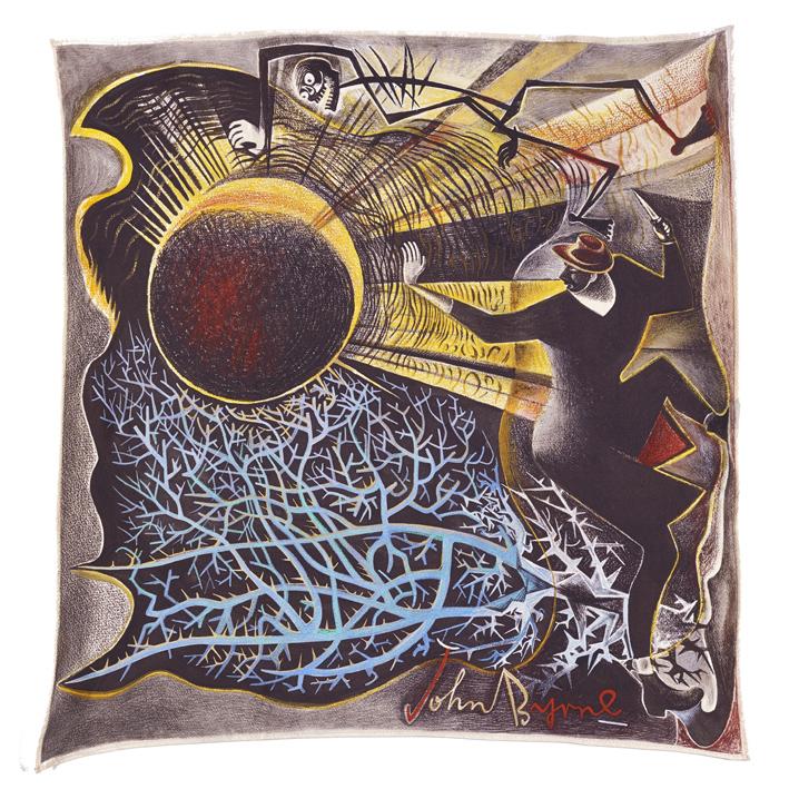 Moonstruck John Byrne Silk Square