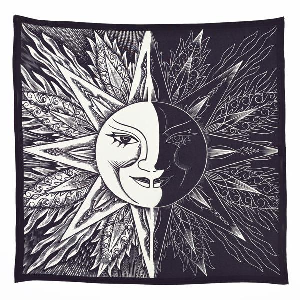 Sun and Moon Jozef Sekalski Silk Square