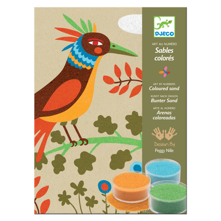 Birds of paradise sand art kit