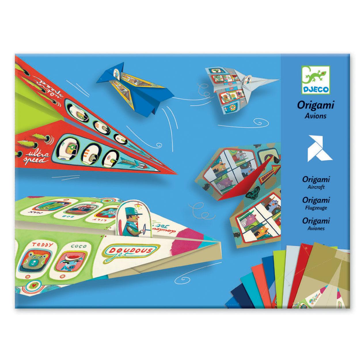 Aircraft origami set