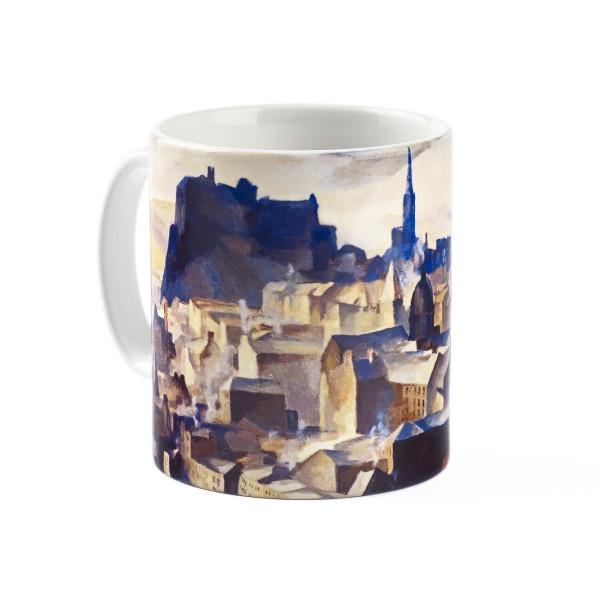 Edinburgh (from Salisbury Crags) by William Crozier ceramic mug