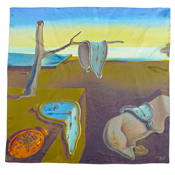 The persistence of memory by Salvador Dali­ silk scarf