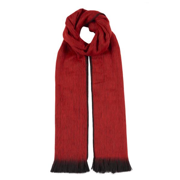 Red alpaca scarf