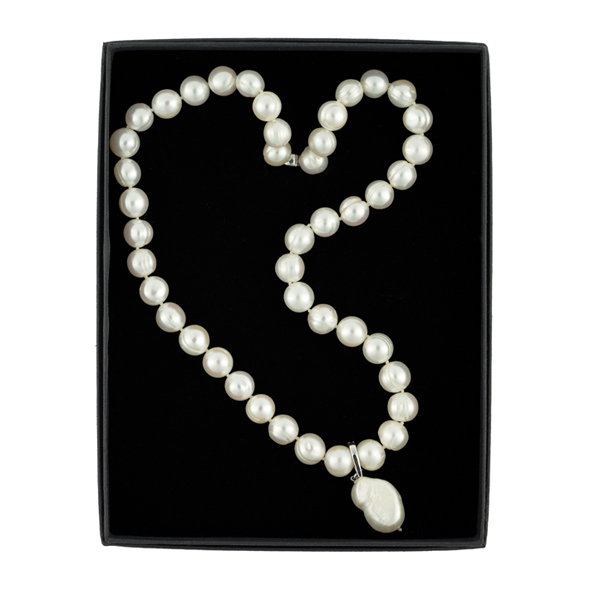 The Real Pearl Necklace Pearl with drop