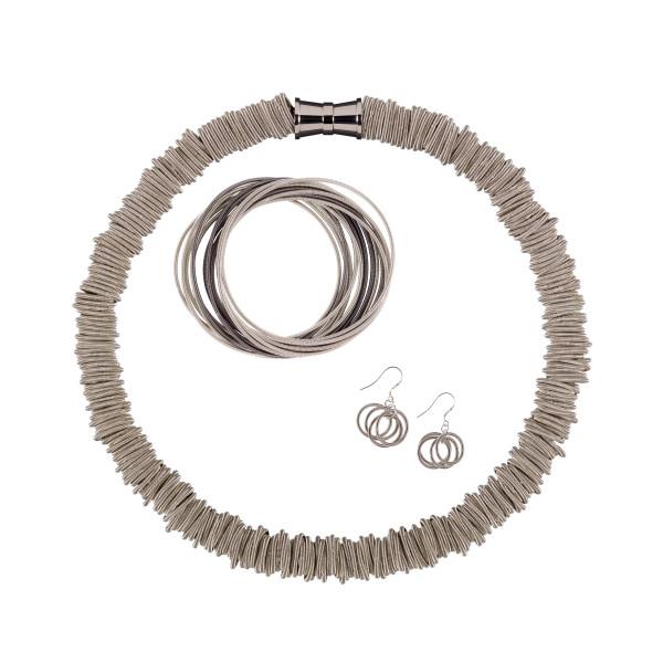 Etnika Odessa Silver Rings Earrings