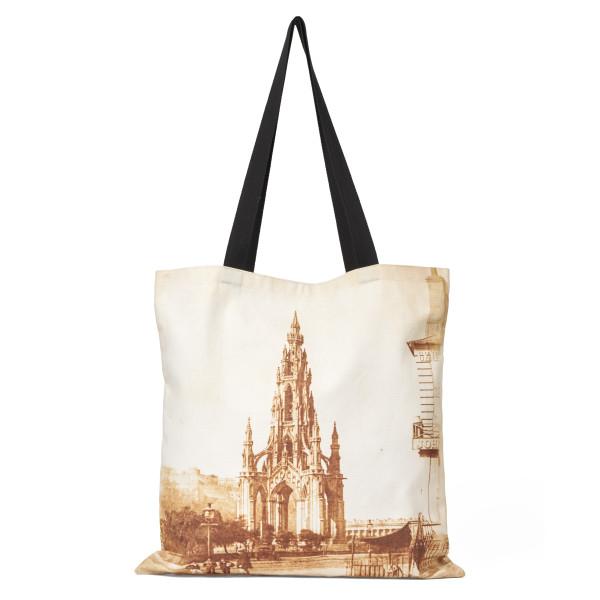 The Scott Monument reusable canvas tote bag