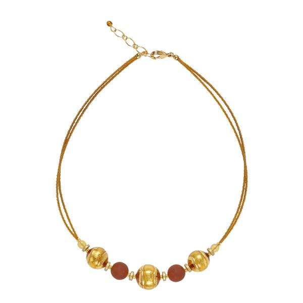 Murano Glass Berenice Gold Necklace