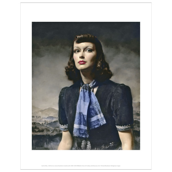 By the Hills by Gerald Leslie Brockhurst art print