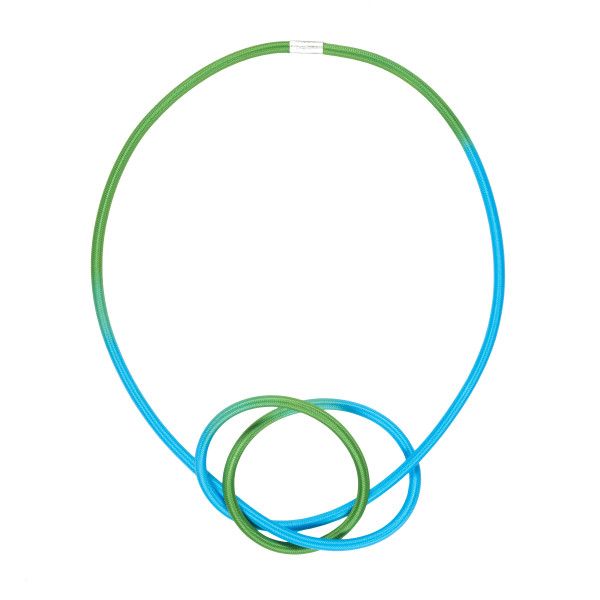 Gilly Langton Aqua Lime Knot Necklace