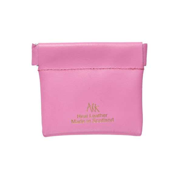 Ark Creatively Broke Pink Leather Snap Purse