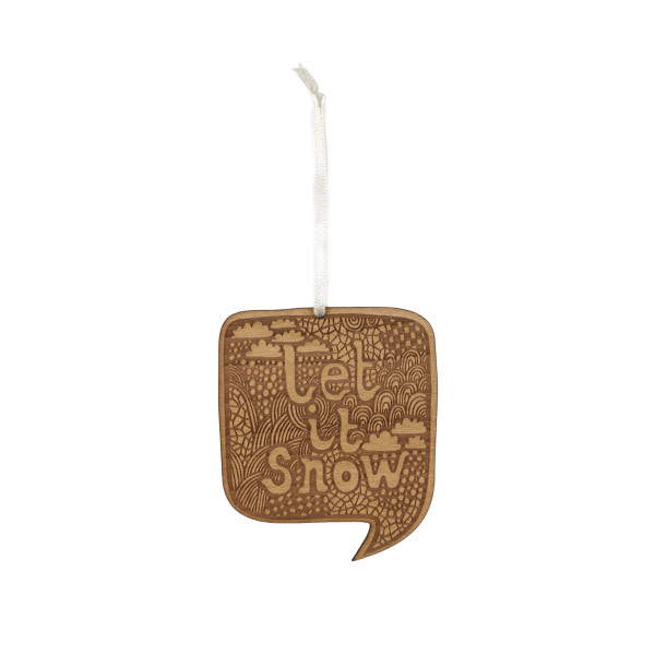 Small Stories Let It Snow Christmas Decoration