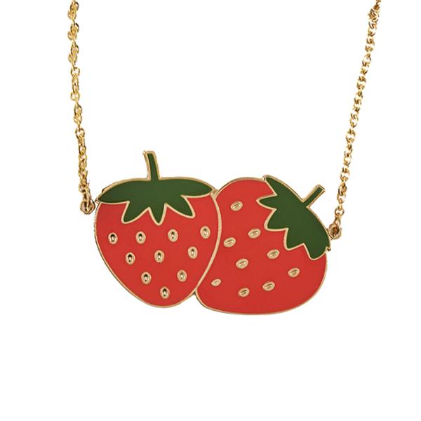 Acorn & Will Strawberry Necklace