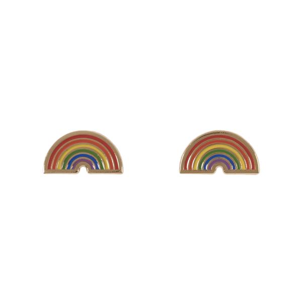 Acorn & Will Rainbow Enamel Earrings