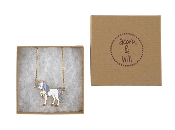 Acorn & Will Unicorn Pastel Necklace