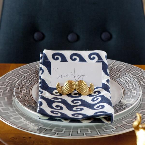 Mr & Mrs Brass place card holder set (4)