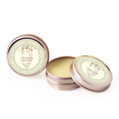 Organic Chocolate and Mint Lip Balm