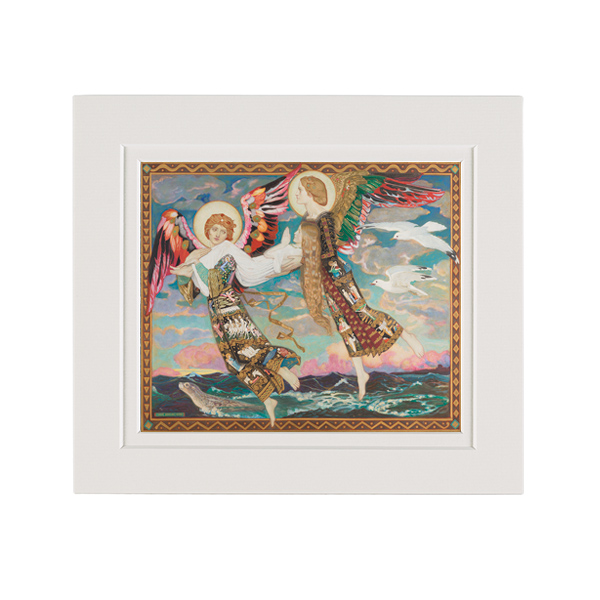 Saint Bride by John Duncan A5 mounted art print