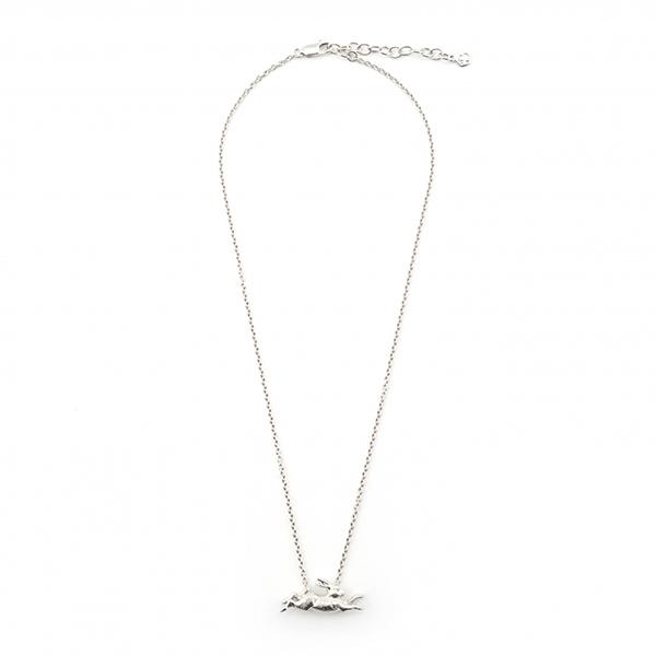 Leaping rabbit pendant